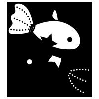 白黒の魚座のイラスト(12星座)