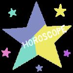 星と「HOROSCOPE」の文字のイラスト