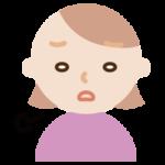ため息をつく若い女性のイラスト