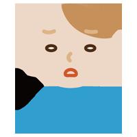 ため息をつく若い男性のイラスト