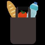 エコバッグと食品のイラスト4