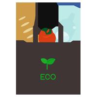 エコバッグと食品のイラスト5