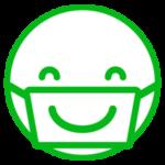 マスクで笑顔のアイコンイラスト1