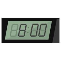 デジタル置き時計のイラスト1