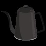 ドリップポットのイラスト(黒)