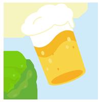 枝豆とビールのイラスト