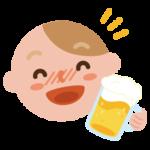 酔っ払いの若い男性のイラスト