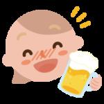 酔っ払いの若い女性のイラスト