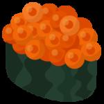 お寿司のイラスト(イクラ)