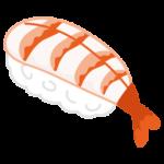 お寿司のイラスト(エビ)