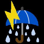 雷雨のアイコンイラスト(大雨)