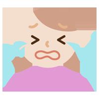 号泣する若い女性のイラスト