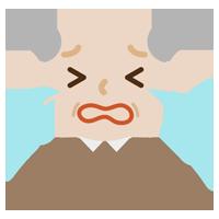 号泣する高齢者のい男性のイラスト