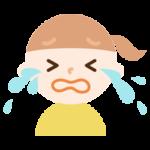 号泣する女の子のイラスト