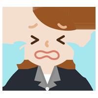 号泣する社会人の女性のイラスト