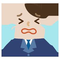 号泣する社会人の男性のイラスト