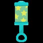 赤ちゃんのおもちゃ、ガラガラのイラスト