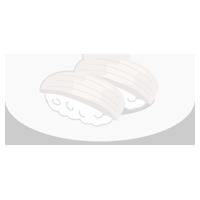 玉子のお寿司のイラスト(イカ)