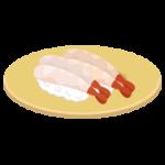 甘えびのお寿司のイラスト(回転寿司)
