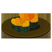 うにのお寿司のイラスト(回転寿司)