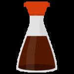 瓶に入った醤油のイラスト
