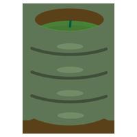 緑茶のイラスト(茶柱)1