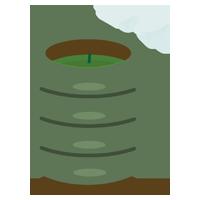 緑茶のイラスト(茶柱)2