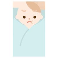 怒る赤ちゃんのイラスト