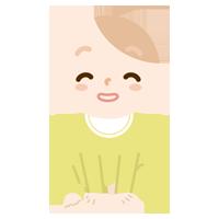 ペタッと座る赤ちゃんのイラスト