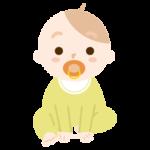 おしゃぶりをした赤ちゃんのイラスト