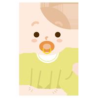 ハイハイする赤ちゃんのイラスト