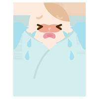 大泣きする赤ちゃんのイラスト