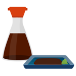 醤油とワサビのイラスト