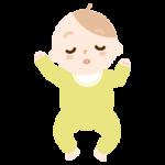 眠る赤ちゃんのイラスト