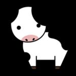 牛の全身のイラスト1