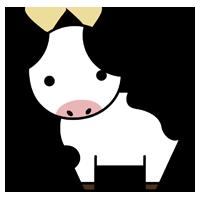 牛の全身のイラスト2