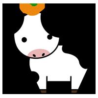 牛の全身のイラスト3