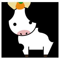 牛の全身のイラスト9