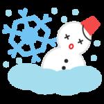 大雪のアイコンイラスト1