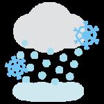 大雪のアイコンイラスト2
