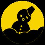 大雪の丸アイコンイラスト1(警報)