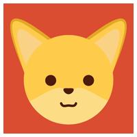 狐のアイコンのイラスト