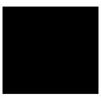狐のアイコンのイラスト(黒線)