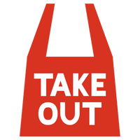 「TAKE OUT」のアイコンイラスト1