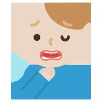 喉を痛めた若い男性のイラスト1