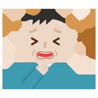 喉を痛めた中年の男性のイラスト2