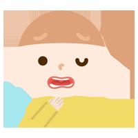 喉を痛めた女の子のイラスト1