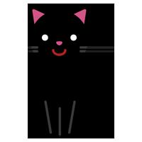 黒猫のイラスト1