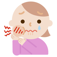 虫歯が痛む若い女性のイラスト1
