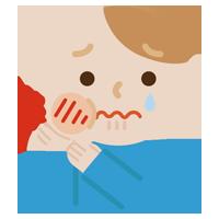 虫歯が痛む若い男性のイラスト1